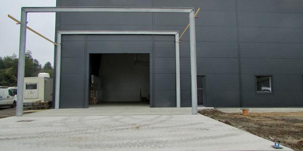 Indgang til nye bygninger